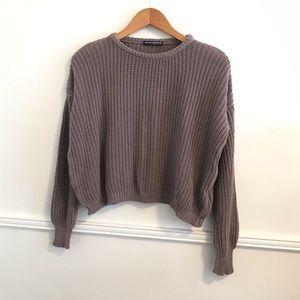 Brandy Melville O/S purple lavender knit sweater